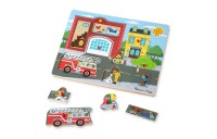 cheap Melissa & Doug Around the Fire Station Sound Puzzle - Wooden Peg Puzzle (8pc) reasonable competitive