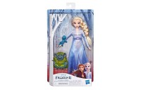 competitive Disney Frozen 2 Elsa Fashion Doll In Travel Outfit With Pabbie and Salamander Figures reasonable cheap