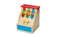 competitive Melissa & Doug Spin and Swipe Wooden Toy Cash Register With 3 Play Coins and Pretend Credit Card cheap reasonable