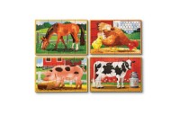 reasonable Melissa & Doug Farm 4-in-1 Wooden Jigsaw Puzzles in a Storage Box (48pc total) cheap competitive