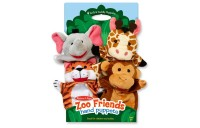 cheap Melissa & Doug Zoo Friends Hand Puppets (Set of 4) - Elephant, Giraffe, Tiger, and Monkey competitive reasonable