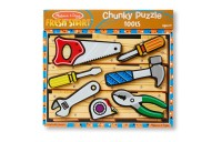 competitive Melissa & Doug Wooden Chunky Puzzles Set - Tools and Dinosaurs 14pc cheap reasonable