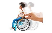 reasonable Barbie Fashionistas Doll #133 Brunette with Rolling Wheelchair and Ramp competitive cheap