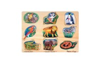 competitive Melissa & Doug Zoo Sound Puzzle - Wooden Peg Puzzle With Sound Effects 8pc reasonable cheap