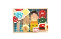 competitive Melissa & Doug Wooden Sandwich-Making Pretend Play Food Set reasonable cheap
