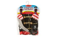 competitive Melissa & Doug Pirate Role Play Costume Dress-Up Set With Hat, Sword, and Eye Patch, Adult Unisex, Black cheap reasonable