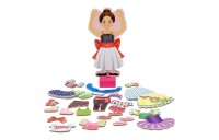 cheap Melissa & Doug Deluxe Nina Ballerina Magnetic Dress-Up Wooden Doll With 27pc of Clothing reasonable competitive