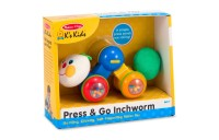 cheap Melissa & Doug K's Kids Press and Go Inchworm Baby Toy - Rattles, Clicks, and Self Propels reasonable competitive