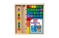 competitive Melissa & Doug Bead Sequencing Set With 46 Wooden Beads and 5 Double-Sided Pattern Boards reasonable cheap