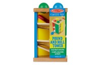 cheap Melissa & Doug Deluxe Pound and Roll Wooden Tower Toy With Hammer competitive reasonable