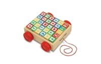competitive Melissa & Doug Classic ABC Wooden Block Cart Educational Toy With 30 Solid Wood Blocks cheap reasonable