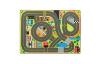 competitive Melissa & Doug Jumbo Roadway Activity Rug With 4 Wooden Traffic Signs (79 x 58 inches) reasonable cheap