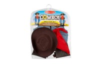competitive Melissa & Doug Cowboy Role Play Costume Set (5pc) - Includes Faux Leather Chaps, Adult Unisex, Blue/Gold/Red reasonable cheap