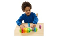 competitive Melissa & Doug Counting Caterpillar - Classic Wooden Toy With 10 Colorful Numbered Segments reasonable cheap
