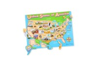 cheap Melissa & Doug USA Map Wooden Jigsaw Puzzle 45pc competitive reasonable