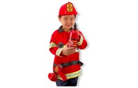 reasonable Melissa & Doug Fire Chief Role Play Costume Dress-Up Set (6pc), Adult Unisex, Size: Small, Red cheap competitive