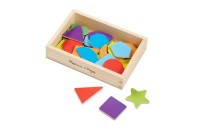 competitive Melissa & Doug 25 Wooden Shape and Color Magnets in a Box cheap reasonable