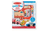 cheap Melissa & Doug Decorate-Your-Own Wooden Rescue Vehicles Craft Kit - Police Car, Fire Truck, Helicopter reasonable competitive