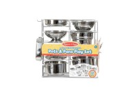 cheap Melissa & Doug Deluxe Stainless Steel Pots & Pans Play Set competitive reasonable