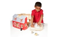 reasonable Melissa & Doug Fold and Go Wooden Barn Play Set - 10pc competitive cheap