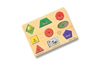 reasonable Melissa & Doug Assorted Shapes Sound Puzzle Set - 9pc cheap competitive