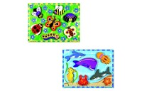 cheap Melissa & Doug Wooden Chunky Puzzles Set - Ocean Animals and Insects 14pc competitive reasonable