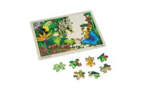 reasonable Melissa & Doug Wooden Jigsaw Puzzles Set - Rainforest Animals and Pirate Ship 2pc competitive cheap