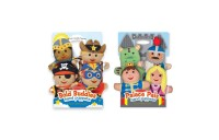 reasonable Melissa & Doug Adventure Hand Puppets (Set of 2, 4 puppets in each) - Bold Buddies and Palace Pals cheap competitive