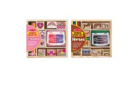 reasonable Melissa & Doug Wooden Stamp Sets (2): Friendship and Horses competitive cheap