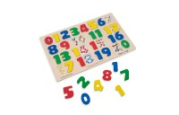 reasonable Melissa & Doug Numbers 0-20 Wooden Puzzle (21pc) 32pc cheap competitive