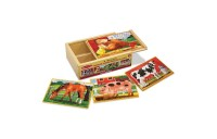 competitive Melissa & Doug Animals 4-in-1 Wooden Jigsaw Puzzles Set - Pets and Farm 96pc reasonable cheap