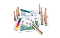 cheap Melissa & Doug Deluxe Happy Handle Stamp Set With 10 Stamps, 5 Colored Pencils, and 6-Color Washable Ink Pad competitive reasonable