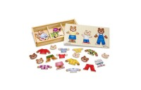 cheap Melissa & Doug Mix 'n Match Wooden Bear Family Dress-Up Puzzle With Storage Case (45pc) competitive reasonable