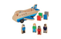 competitive Melissa & Doug Wooden Airplane Play Set With 4 Play Figures and 4 Suitcases reasonable cheap