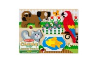 competitive Melissa & Doug Pets Wooden Chunky Jigsaw Puzzle - Dog, Cat, Bird, and Fish (20pc) cheap reasonable