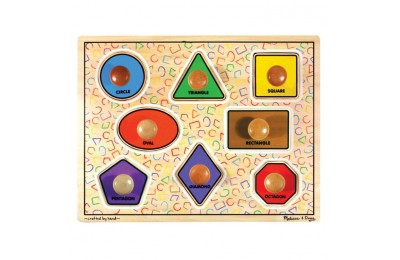 reasonable Melissa & Doug Large Shapes Jumbo Knob Wooden Puzzle (8pc) cheap competitive