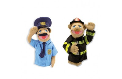 reasonable Melissa & Doug Rescue Puppet Set - Police Officer and Firefighter competitive cheap