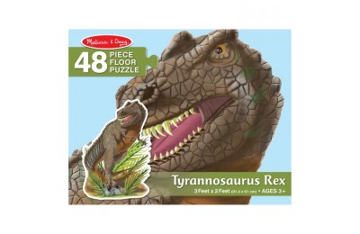 competitive Melissa & Doug T-Rex Dinosaur Jumbo Jigsaw Floor Puzzle 48pc reasonable cheap
