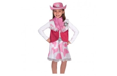 competitive Melissa & Doug Cowgirl Role Play Costume Set (5pcs) - Skirt, Hat, Vest, Badge, Scarf, Adult Unisex cheap reasonable