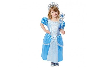 reasonable Melissa & Doug Royal Princess Role Play Costume Set (3pc) - Blue Gown, Tiara, Wand, Women's, Size: Small cheap competitive