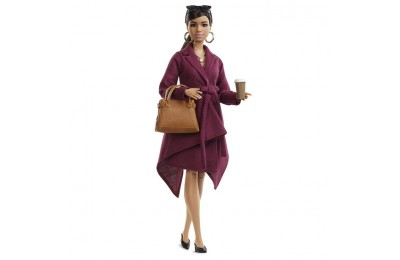 reasonable Barbie Signature Styled By Chriselle Lim Collector Doll in Burgundy Trench Dress cheap competitive