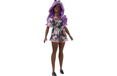 reasonable Barbie Fashionistas Doll #125 Black Floral Dress competitive cheap