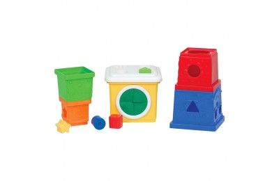 cheap Melissa & Doug K's Kids Stacking Blocks Set With Sorting Shapes reasonable competitive