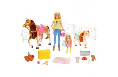 cheap Barbie Hugs 'N' Horses Playset competitive reasonable