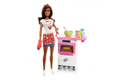 cheap Barbie Bakery Chef Nikki Doll and Playset competitive reasonable