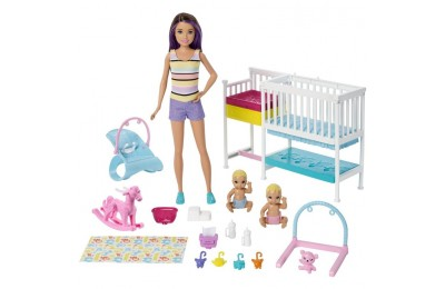 competitive Barbie Skipper Babysitters Inc Nap 'n' Nurture Nursery Dolls and Playset cheap reasonable