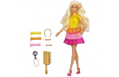 competitive Barbie Ultimate Curls Doll and Playset reasonable cheap