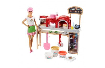 cheap Barbie Careers Pizza Chef Doll and Playset reasonable competitive