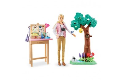 cheap Barbie National Geographic Butterfly Scientist Playset competitive reasonable