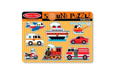 competitive Melissa & Doug Vehicles Sound Puzzle - 8pc reasonable cheap